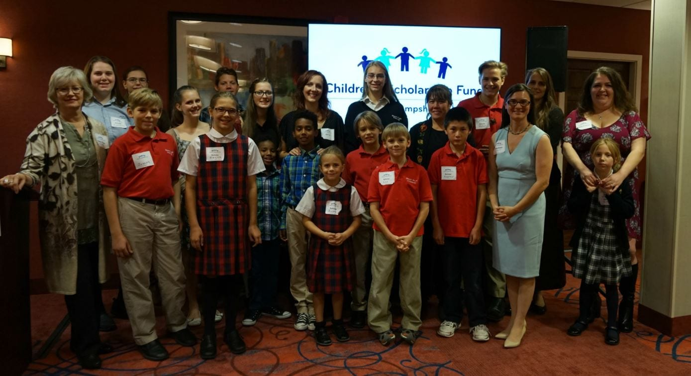 """CSF Scholars, families, and supporters gathered at the recent """"Celebrate Success"""" event at the Falls Event Center in Manchester. Photo credit: Kimberly Morin"""